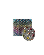 Glittering Faux Diamond Dazzling Faux Rhinestone Mesh Ribbon Wrap for Arts and Crafts Decorations and Cake Decorations, 1 Strip 11cm x 0.9m - Rainbow Horizontal