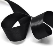 Black Face Satin Ribbon,2.5cm - 1.3cm X 25Yd
