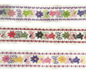 "0.5m"" Grosgrain Ribbon Fabric Fashion Floral Ribbon Set 6 Yards"