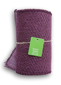 Plum Burlap Ribbon Roll - 5.5 x 15