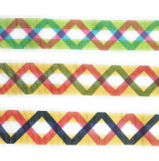 "0.5m"" Grosgrain Ribbon-Fabric Fashion Zig Zag Ribbon Set 6 Yards"