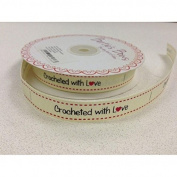 Crocheted with Love Grosgrain Ribbon - per 3 metres