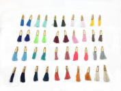 "Wholesale Muliti-coloured Mini Tassels Tiny Short Cotton Thread Tassels with Gold Cops 50pcs/lot 14mm(1/2"") GD20ST19X"