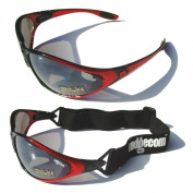 Ladgecom All-Weather Sunglasses & Goggles with Head Strap for Cycling, Running & Ski Sports