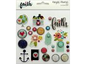Simple Stories Faith Deco Brads