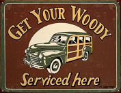 Moore - Woody Service Metal Tin Sign 41cm W x 32cm H , 16x 13