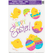 Spring Chick Easter Window Cling Sheet