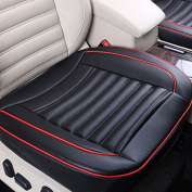 MD Group Car Cushion Seat Chair Cover PU Leather Black 50x50cm Auto Interior Pad Mat