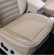 MD Group Car Cushion Seat Chair Cover PU Leather 50x50cm Beige Auto Interior Pad Mat