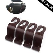 Sunshine - Classic Universal Car Seat Back Headrest Holder Hook for Bag Coat Organiser Holder(Purse of 4)