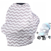 Nursing Cover - V-Fyee Muti-Use Breastfeeding Cover Stretchy Carseat Canopy Baby Stroller High Chair Shopping Car Cover