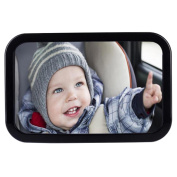 Baby Car Mirror - Baby Back Seat Mirror Rear Facing - Easily Watch Your Precious Child In-Car - Adjustable, Convex and Shatterproof Glass