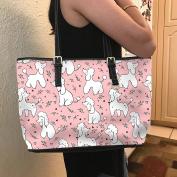 VOTANTA - Poodle Pink Tote Bag For Women and Girls (Pink)