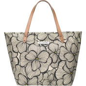 Petunia Pickle Bottom Downtown Tote, Bouquets in Bordeaux