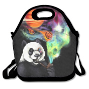 LaiER Lunch Bag Smoking Panda Durable Insulated Reusable Tote Bag Picnic Lunchbox Food Container For Kids,Adult School Work Office