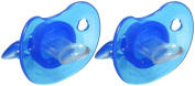 Baby King Blue Soft Silicone Pacifier - BPA FREE - 2 Pacifiers in Pack