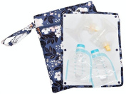 "Sarah Wells ""Pumparoo"" for Breast Pump Parts, Wet Dry Bag with Staging Mat"