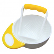 MonkeyJack Manual Kids Food Fruit Supplement Hand Grinding Bowl & Rod Set - Yellow White, as described