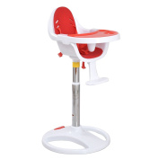 New Red Pedestal Baby High Chair Infant Durable Feeding Dining Table Safety Seat .