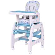 3 in 1 Baby High Chair Convertible Play Table Seat Booster Toddler Feeding Tray .