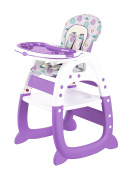 Evezo 2-in-1 High Chair Desk, Purple