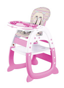 Evezo 2-in-1 High Chair Desk, Pink