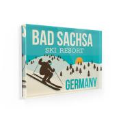 Fridge Magnet Bad Sachsa Ski Resort - Germany Ski Resort - NEONBLOND