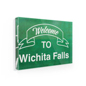 Fridge Magnet Green Sign Welcome To Wichita Falls - NEONBLOND
