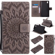 COWX Sony Xperia E6/L1 Book Style PU Leather Case Flip Cover Case Wallet Case Cover With Soft Silicone Mobile Phone Holder PU Leather Case Wallet Case Cover for Sony Xperia Sony Xperia E6/L1 E6/Xperia Protective L1