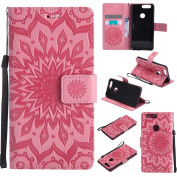 COWX Honour 8 Book Style PU Leather Case Flip Cover Case Wallet Case Cover With Soft Silicone Mobile Phone Protective PU Leather Case with Holder for HTC Desire 8 Protective Bag Wallet Case for HTC Desire 8