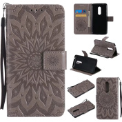 COWX Flip Book Style PU Leather Case with Soft Silicone Case for ZTE Axon 7 Holder PU Leather Case Wallet Case Cover for ZTE ZTE Axon 7 Axon 7 Mobile Phone Cover