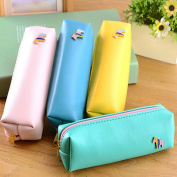 Gemini_mall® Canvas Pen Pencil Case Stationery Pouch Bag Case Cosmetic Bags, Set of 4