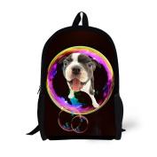 Showudesigns Unique Kids Bagpack Pet Dog Pattern Backpack for Little Boys Gilrs