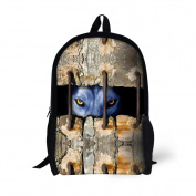 Showudesigns Creative Printing Wolf Backpack for Teenager Boys with Double Zipper