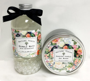 Bubble Bath and Candle Set,Bubble Bath Set for Women,240ml Bubble Bath and 240ml Scented Candle Soy Blend.Paraben Free,Made In Usa,Floral Citrus Scent