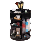 360 Degree Rotating Makeup Organiser Cosmetic Storage Case Adjustable Multi-Function Makeup Brush Holder Large Capacity Makeup Shelf Acrylic Cosmetic Storage Great for Countertop and Travel