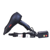 MHU Travel Ionic Ceramic Hair Dryer 1000 Watts Lightweight DC Moter Low Noise Mini Hair Blow Dryer with Concentrator,Black