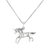 SL-Silver Set of Necklace and Pendant Unicorn 925 silver in gift box