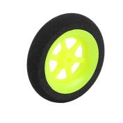 2.5mm Shaft Hole RC Plane Tail Tyre Lightweight Sponge Wheel Metric Size D40 H11