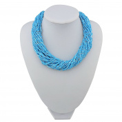 BOCAR Multiple Strand Handmade Beaded 41cm Statement Collar Necklace for Women with Gift Box