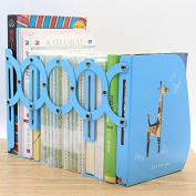 Telescopic Books Stand Students Use Office Admission Foldable Shrink Metal Medicine Book By Book Block,Light Blue