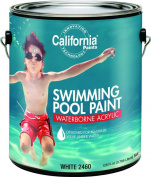 California Waterborne Acrylic Swimming Pool Paint, 3.8l White, Slight Ammoniacal, Viscous Liquid