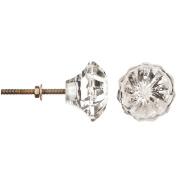 Heritage Hardware Glass Knob, Cut