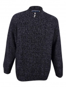 Karen Scott Womens Plus Size Cable-Knit Mock-Neck Sweater