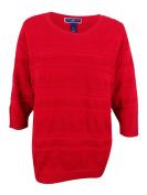 Karen Scott Women's Plus Size Solid Textured Sweater