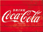 Coca Cola, Refresh, Drink, Wood Effect Box, Roadside Diner, Cafe, Pub, Vintage, Retro, Crate, Kitchen, Fridge Magnet