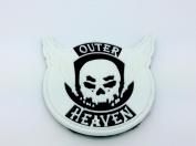 Outer Heaven Schädel-flügel Leuchten Im Dunkeln Metal Gear Solid Pvc Klett