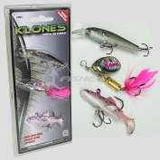 3 X Trout Lures Spinners Fishing Soft Bait Klone Baits Ngt Trout