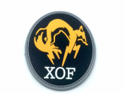 Xof Foxhound Black Metal Gear Solid Cosplay Airsoft Pvc Patch