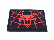 Spiders Web Black Pvc Airsoft Patch